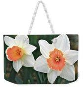 Daffodils Orange And White Weekender Tote Bag