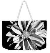 Dahlia Close Up - B And W Weekender Tote Bag