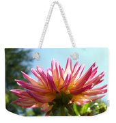 Dahlia Floral Garden Art Prints Canvas Summer Blue Sky Baslee Troutman Weekender Tote Bag