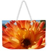 Dahlia Floral Orange Yellow Flower Botanical Art Prints Canvas Baslee Troutman Weekender Tote Bag