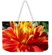 Dahlia Florals Orange Dahlia Flower Art Prints Canvas Weekender Tote Bag
