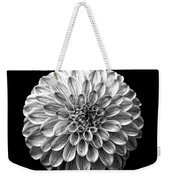 Dahlia  Flower Black And White Square Weekender Tote Bag
