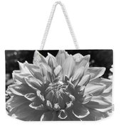 Dahlia In Black And White 2 Weekender Tote Bag