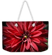 Dahlia Radiant In Red Weekender Tote Bag