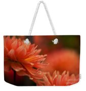 Dahlia Rainshower Weekender Tote Bag