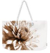 Dahlia Sepial Flower Weekender Tote Bag