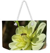 Dahlia With Wasp Weekender Tote Bag