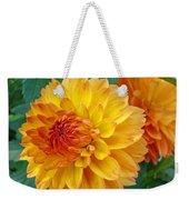 Dahlias Art Prints Orange Dahlia Flowers Baslee Troutman Weekender Tote Bag