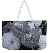 Dahlias Multi Bw Weekender Tote Bag