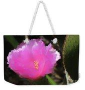 Dainty Pink Cactus Flower Weekender Tote Bag