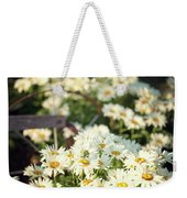 Daisies And A Hand Plow Weekender Tote Bag