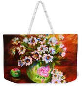 Daisies And Ginger Jar Weekender Tote Bag