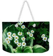 Daisies And Hosta In Colour Weekender Tote Bag