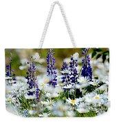 Daisies And Lupine Weekender Tote Bag