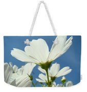 Daisies Floral Art Prints Canvas Daisy Flowers Blue Skies Weekender Tote Bag