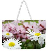 Daisies Flowers Art Prints Spring Flowers Artwork Garden Nature Art Weekender Tote Bag