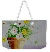 Daisies In Pot Weekender Tote Bag
