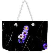 Daisies In Purple Weekender Tote Bag by Lorraine Devon Wilke