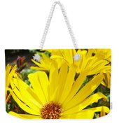 Daisies Summer Garden Art Print Yellow Daisy Baslee Weekender Tote Bag