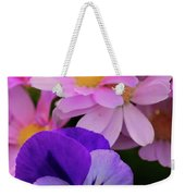 Daisy And Pansy Weekender Tote Bag
