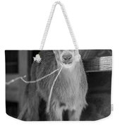 Daisy, Black And White Weekender Tote Bag
