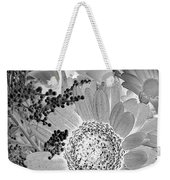 Daisy Bouquet In Black And White Weekender Tote Bag