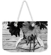 Daisy Crazy Bw Weekender Tote Bag