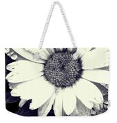 Daisy In Black And White  Weekender Tote Bag