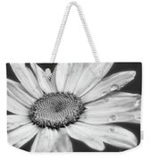 Daisy With Raindrops In Black And White Weekender Tote Bag