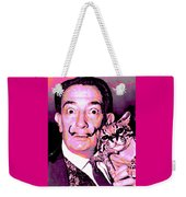 Dali With Ocelot And Cane Weekender Tote Bag