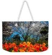 Dallas Arboretum Tulips And Cherries Weekender Tote Bag