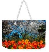 Dallas Arboretum Tulips And Cherries Weekender Tote Bag