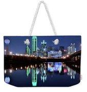 Dallas Dark Blue Night Weekender Tote Bag