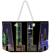 Dallas Letter Skyline 013018 Weekender Tote Bag