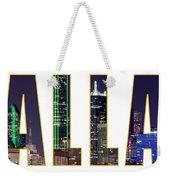 Dallas Letters Transparency 013018 Weekender Tote Bag