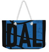 Dallas Mavericks City Poster Art Weekender Tote Bag