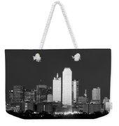 Dallas Skyline Bw 113017 Weekender Tote Bag