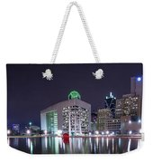 Dallas Skyline From City Hall Weekender Tote Bag