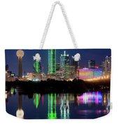 Dallas Skyline Reflection 91317 Weekender Tote Bag