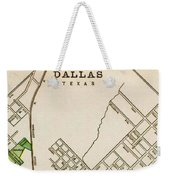 Dallas Texas Map 1899 Weekender Tote Bag
