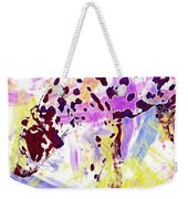 Dalmatian Dog Snow Bland And White  Weekender Tote Bag