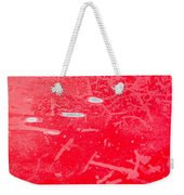 Damaged Red Metal Weekender Tote Bag