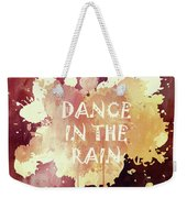 Dance In The Rain Red Version Weekender Tote Bag
