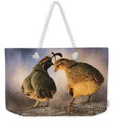 Dance Of The Quail Weekender Tote Bag