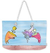 Dance Party Monsters Watercolor Weekender Tote Bag