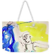 Dancer In Blue Weekender Tote Bag