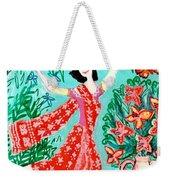 Dancer In Red Sari Weekender Tote Bag