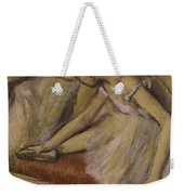 Dancers In Repose Weekender Tote Bag by Edgar Degas