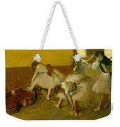 Dancers In The Green Room Weekender Tote Bag by Edgar Degas