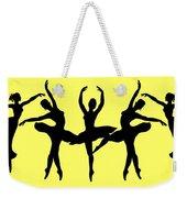 Dancing Ballerinas Silhouette Weekender Tote Bag